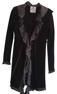 Anthropologie Black with grey trim Jacket