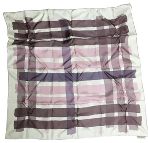 Burberry Checkered Silk Scarf