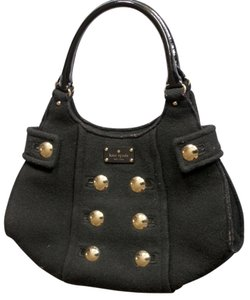 Kate Spade Brass Buttons Wool Felt Hobo Bag