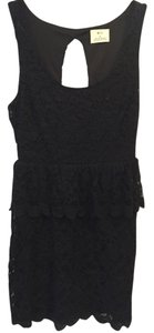 Urban Outfitters Peplum Evening Lace Cut-out Keyhole Dress