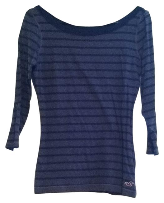 Preload https://item4.tradesy.com/images/hollister-navy-blue-and-charcoal-striped-three-quarter-sleeve-sweaterpullover-size-4-s-108163-0-0.jpg?width=400&height=650