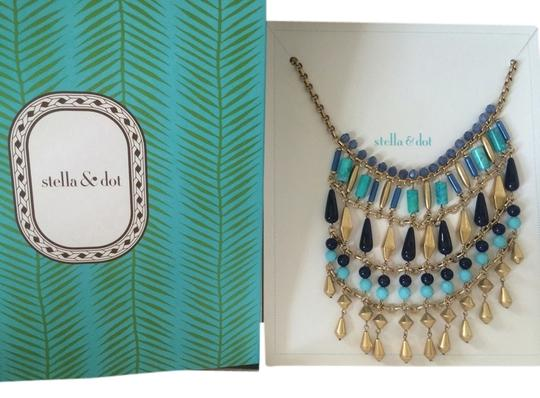 Preload https://item3.tradesy.com/images/stella-and-dot-blue-and-malta-bib-metal-turquoise-stone-necklace-1081632-0-0.jpg?width=440&height=440