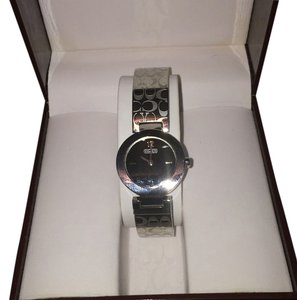 Coach Coach Signature Round Etched Bangle Watch