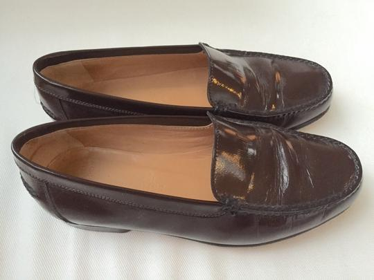 Hermès Brown Leather Flats