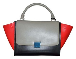 Céline Satchel in RED BLACK GREY