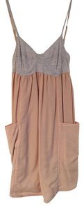 Wilfred short dress grey top with pale pink bottom on Tradesy