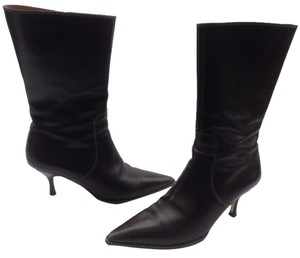 Coach Sammi Pointy Toe Chestnut Brown Boots