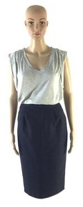 Vertigo Paris Designer Navy Pencil Small Skirt Navy Blue