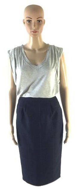 Preload https://img-static.tradesy.com/item/10817104/vertigo-paris-navy-blue-vintage-checkered-pencil-small-knee-length-skirt-size-2-xs-26-0-3-650-650.jpg