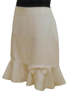 Larry Levine Ivory Ruffle Bow Skirt Ivory, Off-White