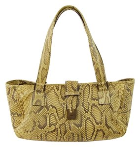 Lambertson Truex Tote in Pale Camel/Brown Python