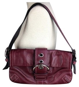 Coach Purse Handbag Shoulder Burgundy Clutch