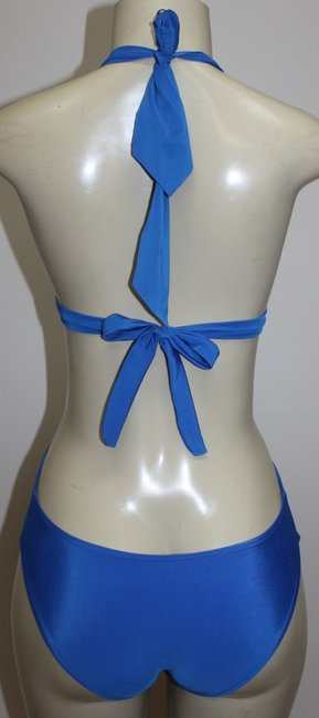 Other Antique Monokini 1pc Halter Sexy Swimsuit Gold Accent Sz M ROYAL BLUE