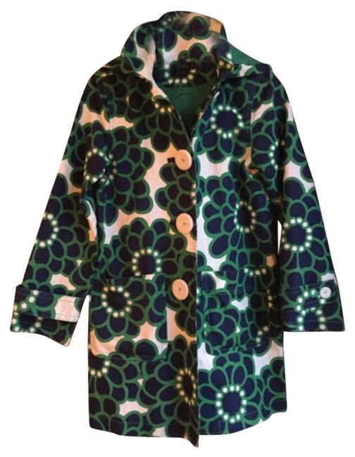 Item - Blue and Green Coat Size 6 (S)