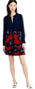J.Crew Skirt red/blue/black