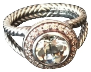 David Yurman Cerise Ring with Prasiolite and Diamonds