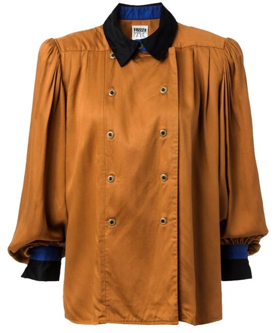 Preload https://img-static.tradesy.com/item/10819222/camel-vintage-double-breasted-blouse-with-billowing-sleeves-medium-button-down-top-size-8-m-0-1-650-650.jpg