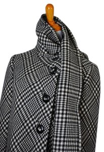 Frances Heffernan Vintage Houndstooth Plaid Pea Coat