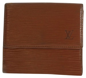 Louis Vuitton LOUIS VUITTON Three-fold Wallet (Coin There Pocket) Epi Leather