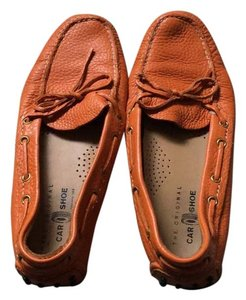 The Original Car Shoe Orange Flats