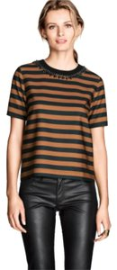 H&M Top Camel Striped