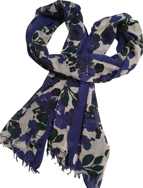 Item - Purple White Pashmina Scarf/Wrap