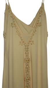 Dave & Johnny Vintage Embellished Sheer Detail Dress
