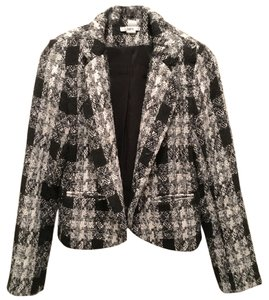Bar III Black, White Jacket