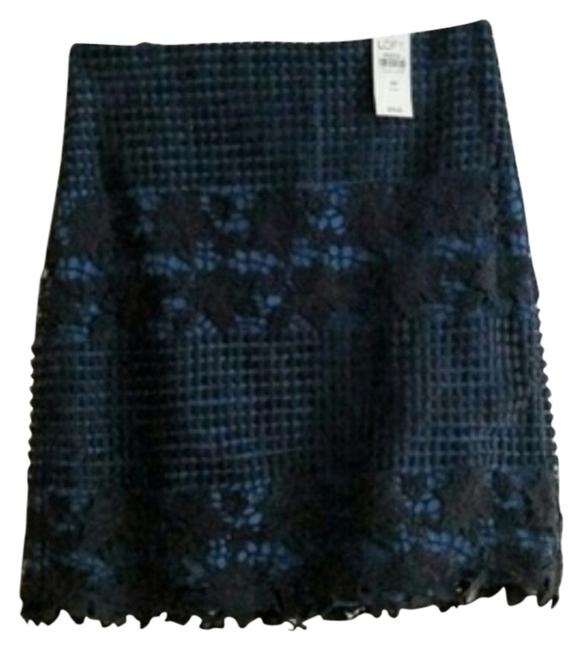 Preload https://img-static.tradesy.com/item/10820056/ann-taylor-loft-blue-and-black-lace-pencil-size-6-s-28-0-1-650-650.jpg