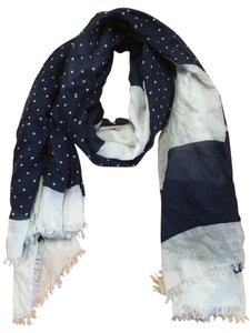 Marc Jacobs Marc Jacobs Navy and White Scarf