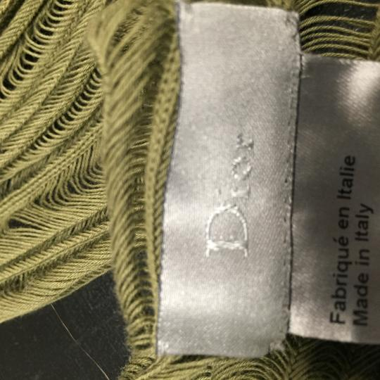 Dior LOWERED PRICE DIOR Homme Green Cotton Scarf Image 1