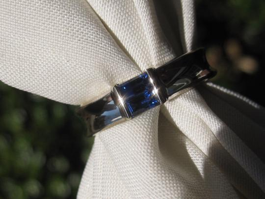 Tiffany & Co. Tiffany & Co. 18K White Gold Sapphire Stacking Ring