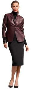 Talbots Wine - Deep Burgundy Leather Jacket