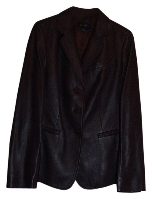 Talbots Wine - Deep Burgundy Leather Jacket Image 1
