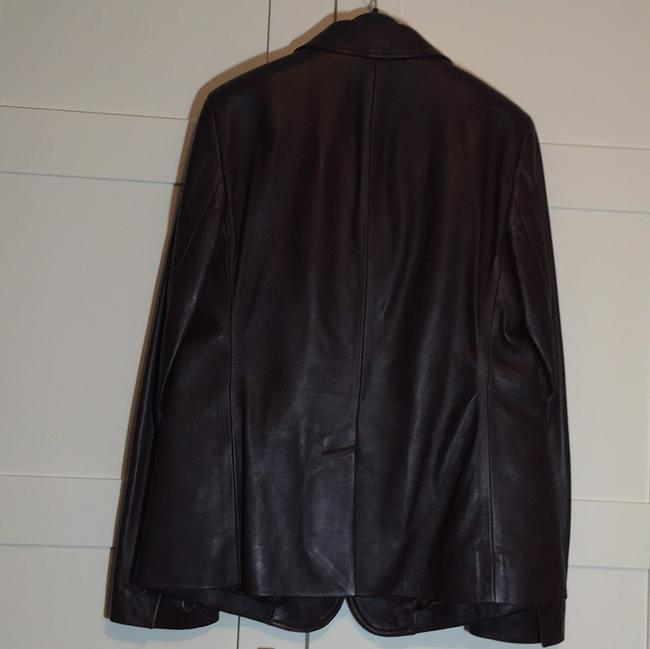 Talbots Wine - Deep Burgundy Leather Jacket Image 2