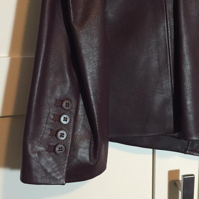 Talbots Wine - Deep Burgundy Leather Jacket Image 3