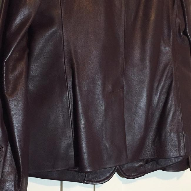 Talbots Wine - Deep Burgundy Leather Jacket Image 4