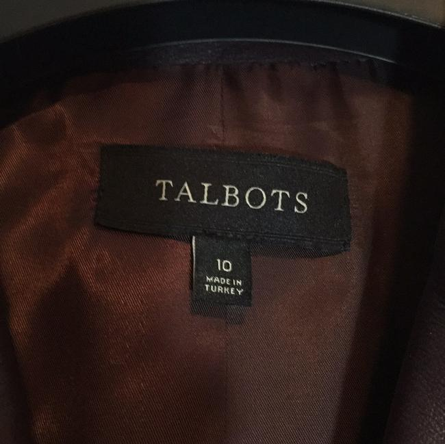 Talbots Wine - Deep Burgundy Leather Jacket Image 5