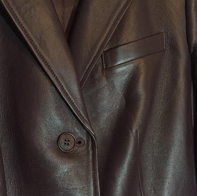 Talbots Wine - Deep Burgundy Leather Jacket Image 7