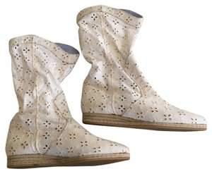 Anthropologie White Boots