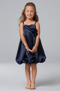 Watters Navy Polyester Wawa By Style 49295 Flower Girl Formal Bridesmaid/Mob Dress Size OS (one size)