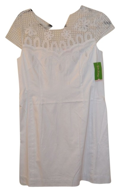Lilly Pulitzer short dress White Bride Size 10 Brand New With Tags on Tradesy
