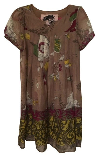 Item - Taupe Above Knee Short Casual Dress Size 12 (L)