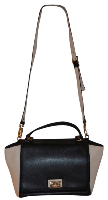 Kate Spade Black and White Leather Cross Body Bag Kate Spade Black and White Leather Cross Body Bag Image 1