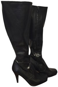 Jessica Simpson Leather Stiletto Sexy Leather Black Boots