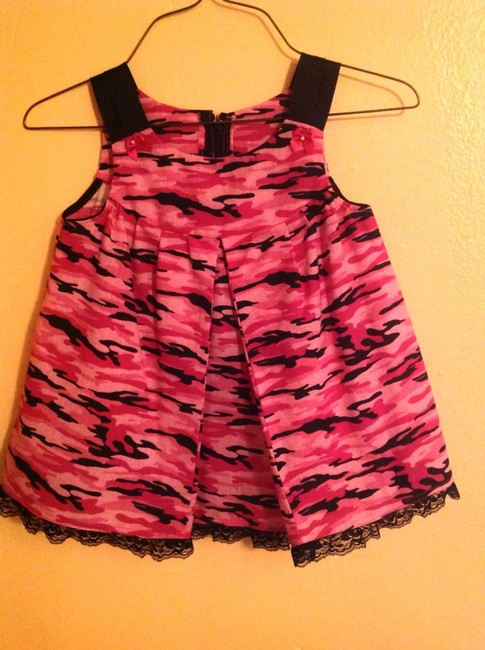 Other short dress Light Pink, hot pink and black Camo Children Girls Kids Lace on Tradesy