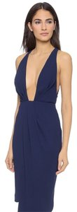 NICHOLAS Sexy Deep Decollete Crepe New Dress