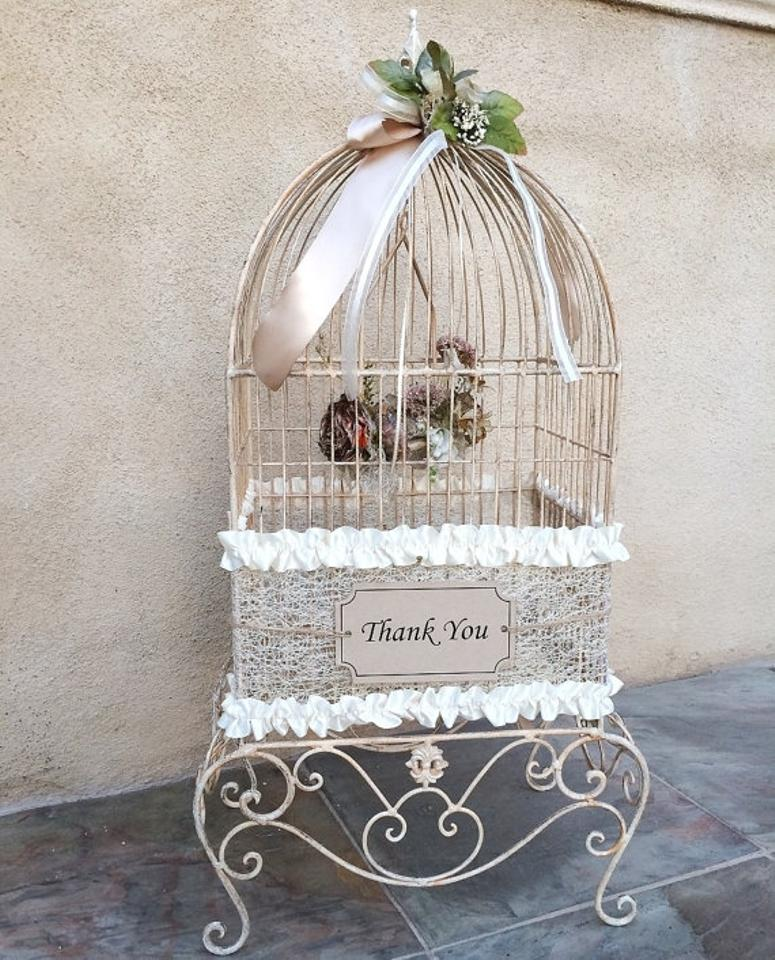 Birdcage For Wedding Gift Cards : Rustic Chic Birdcage Wedding Bird Cage Card Holder Gift Box Money Box ...