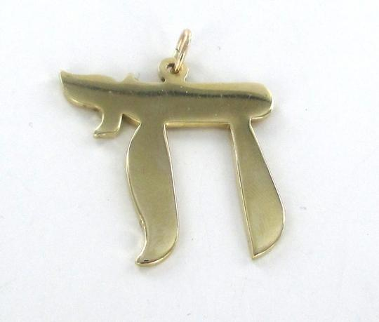 Other 14KT YELLOW GOLD PENDANT CHAI LIFE RELIGIOUS JEW JEWISH 4.6DWT KARAT FAITH LARGE