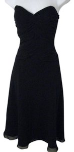 White House | Black Market Strapless Ruching Full Skirt Cocktail Dress